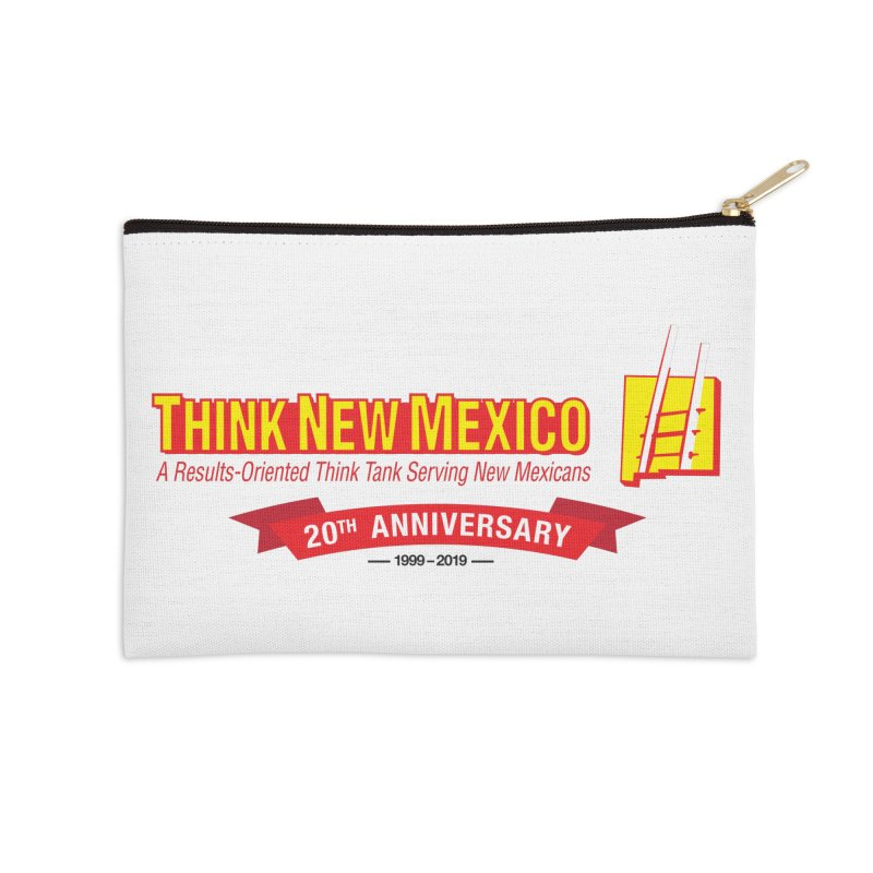20th Anniversary Red Centered Banner Accessories Zip Pouch by Think New Mexico's Artist Shop