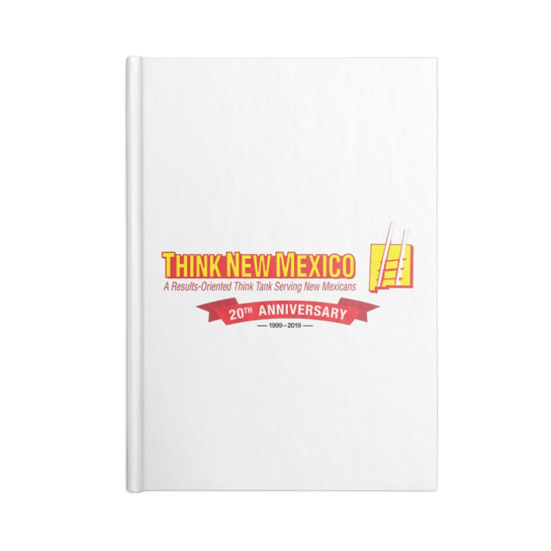 20th Anniversary Red Centered Banner Accessories Notebook by Think New Mexico's Artist Shop
