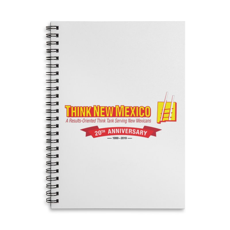 20th Anniversary Red Centered Banner Accessories Lined Spiral Notebook by Think New Mexico's Artist Shop