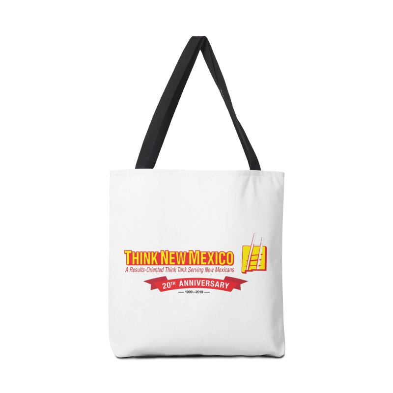 20th Anniversary Red Centered Banner Accessories Tote Bag Bag by Think New Mexico's Artist Shop