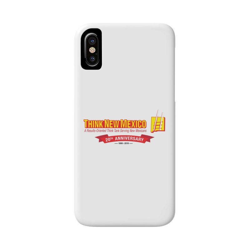20th Anniversary Red Centered Banner Accessories Phone Case by Think New Mexico's Artist Shop