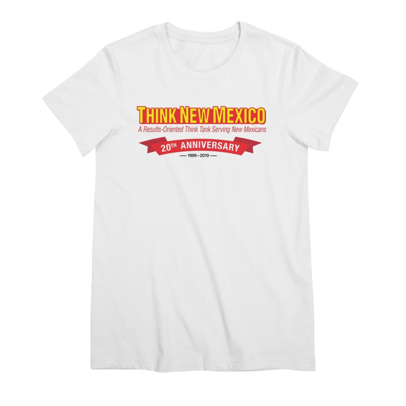 20th Anniversary Red No State Women's T-Shirt by Think New Mexico's Artist Shop
