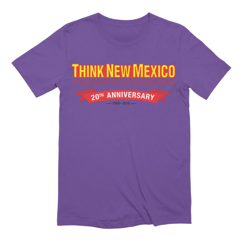 20th Anniversary Red No State Men's Extra Soft T-Shirt by Think New Mexico's Artist Shop