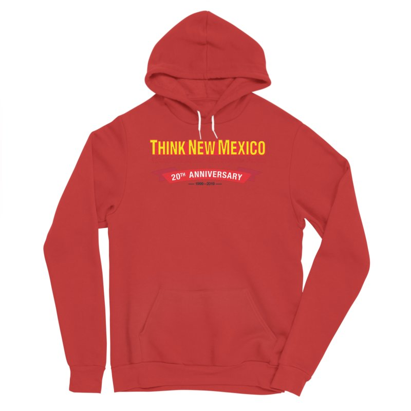 20th Anniversary Red No State Men's Pullover Hoody by Think New Mexico's Artist Shop