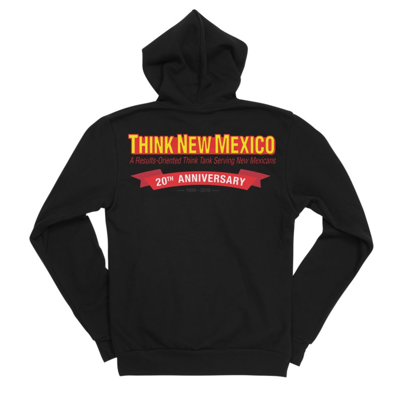 20th Anniversary Red No State Women's Sponge Fleece Zip-Up Hoody by Think New Mexico's Artist Shop