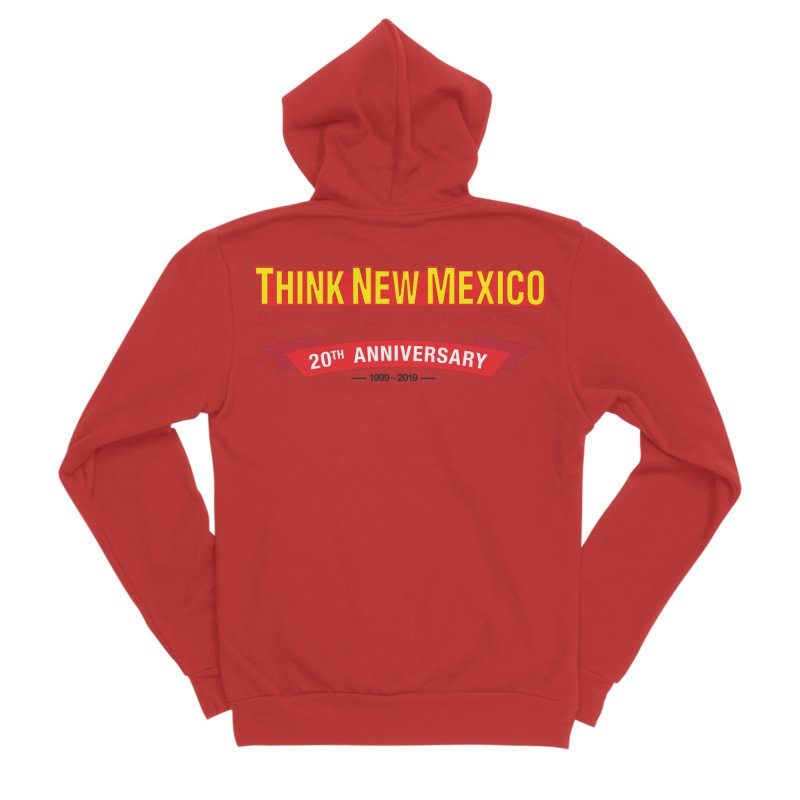 20th Anniversary Red No State Men's Zip-Up Hoody by Think New Mexico's Artist Shop