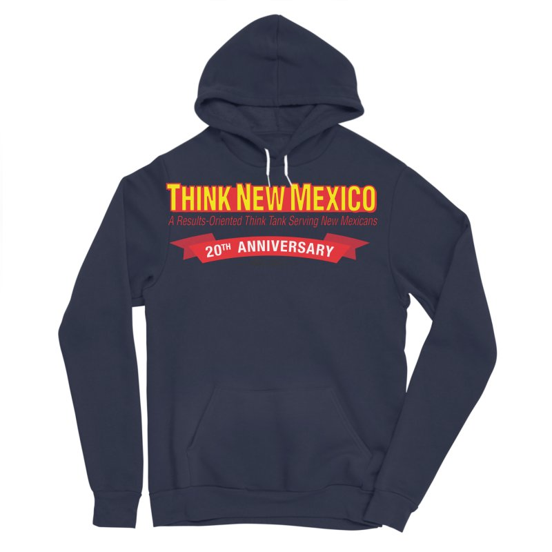 20th Anniversary Red No State Men's Sponge Fleece Pullover Hoody by Think New Mexico's Artist Shop