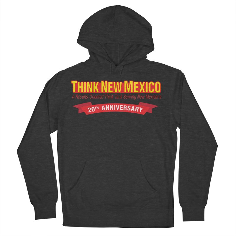 20th Anniversary Red No State Men's French Terry Pullover Hoody by Think New Mexico's Artist Shop