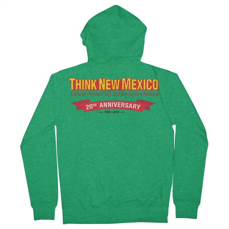 20th Anniversary Red No State Women's Zip-Up Hoody by Think New Mexico's Artist Shop