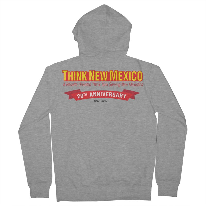 20th Anniversary Red No State Women's French Terry Zip-Up Hoody by Think New Mexico's Artist Shop