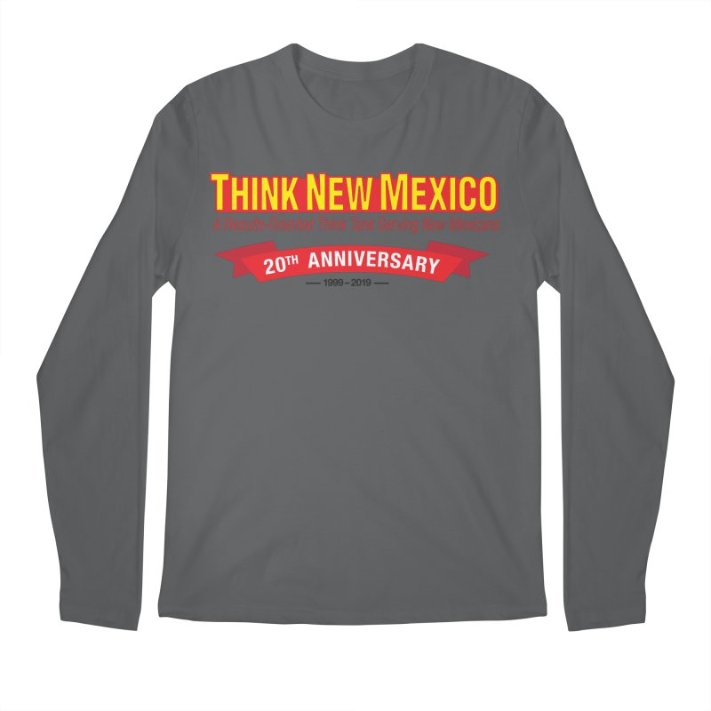 20th Anniversary Red No State Men's Longsleeve T-Shirt by Think New Mexico's Artist Shop