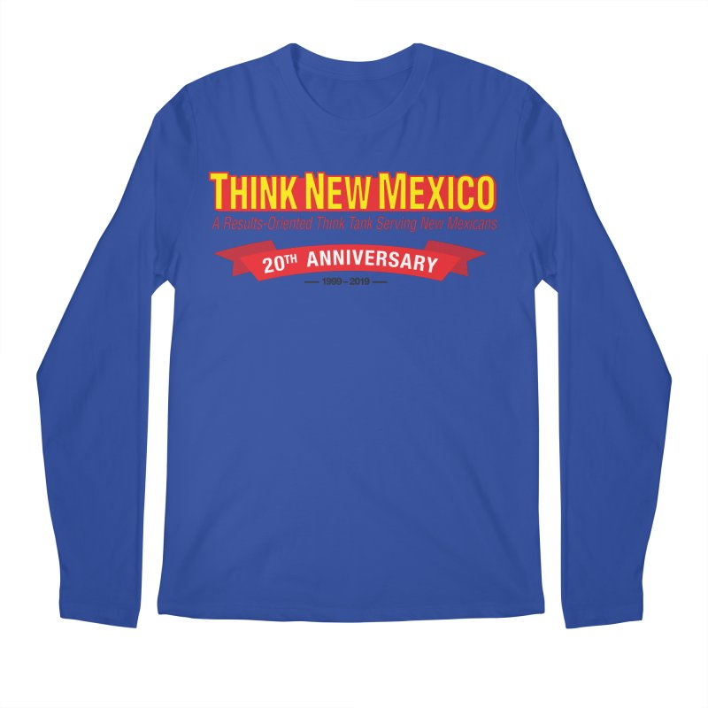 20th Anniversary Red No State Men's Regular Longsleeve T-Shirt by Think New Mexico's Artist Shop