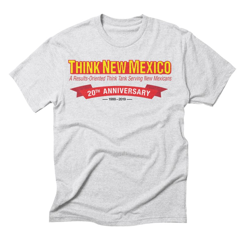 20th Anniversary Red No State Men's Triblend T-Shirt by Think New Mexico's Artist Shop