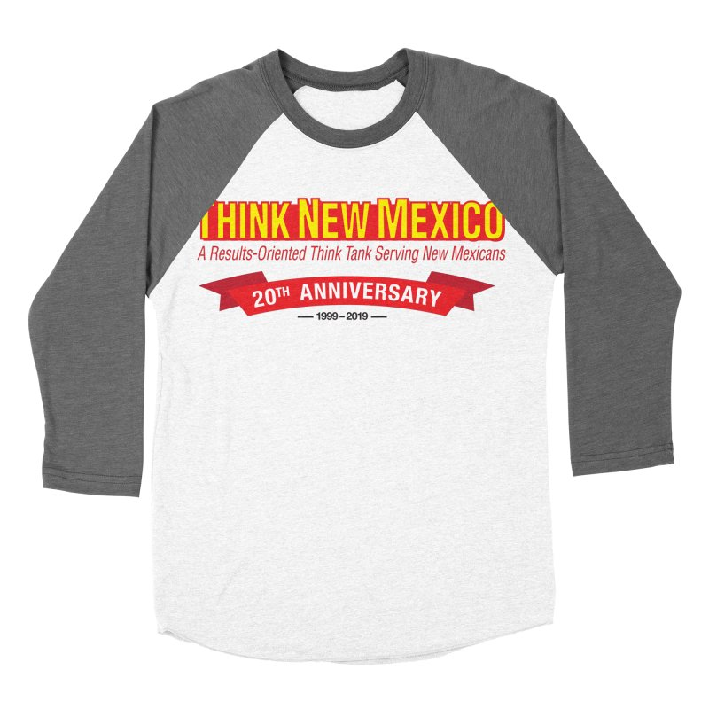 20th Anniversary Red No State Women's Baseball Triblend Longsleeve T-Shirt by Think New Mexico's Artist Shop