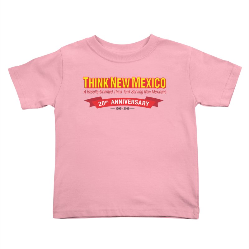 20th Anniversary Red No State Kids Toddler T-Shirt by Think New Mexico's Artist Shop