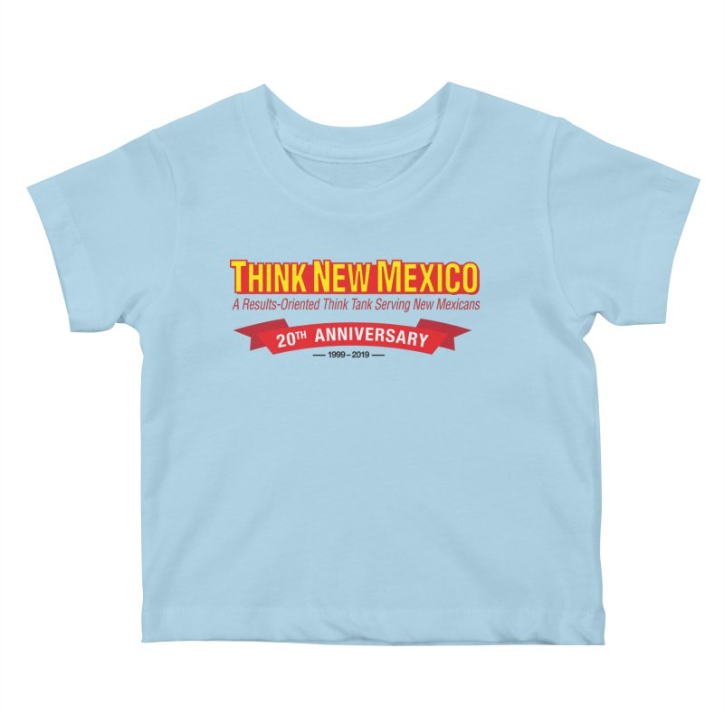 20th Anniversary Red No State Kids Baby T-Shirt by Think New Mexico's Artist Shop