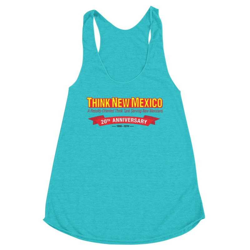 20th Anniversary Red No State Women's Tank by Think New Mexico's Artist Shop