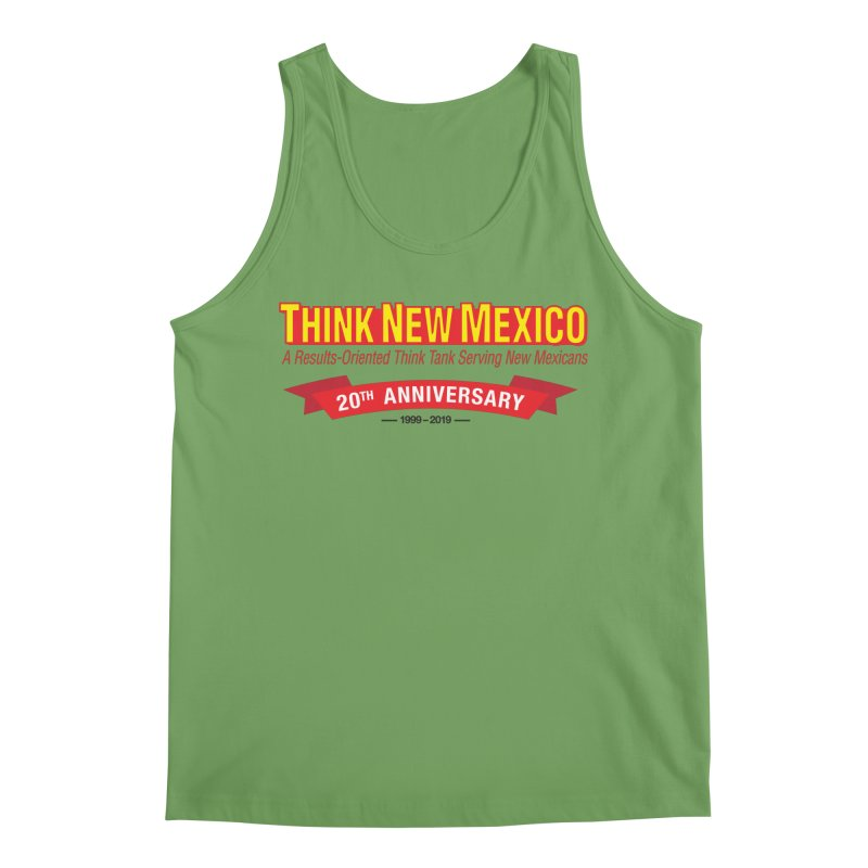 20th Anniversary Red No State Men's Tank by Think New Mexico's Artist Shop