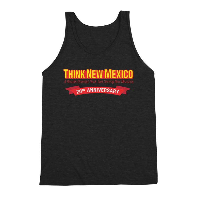 20th Anniversary Red No State Men's Triblend Tank by Think New Mexico's Artist Shop