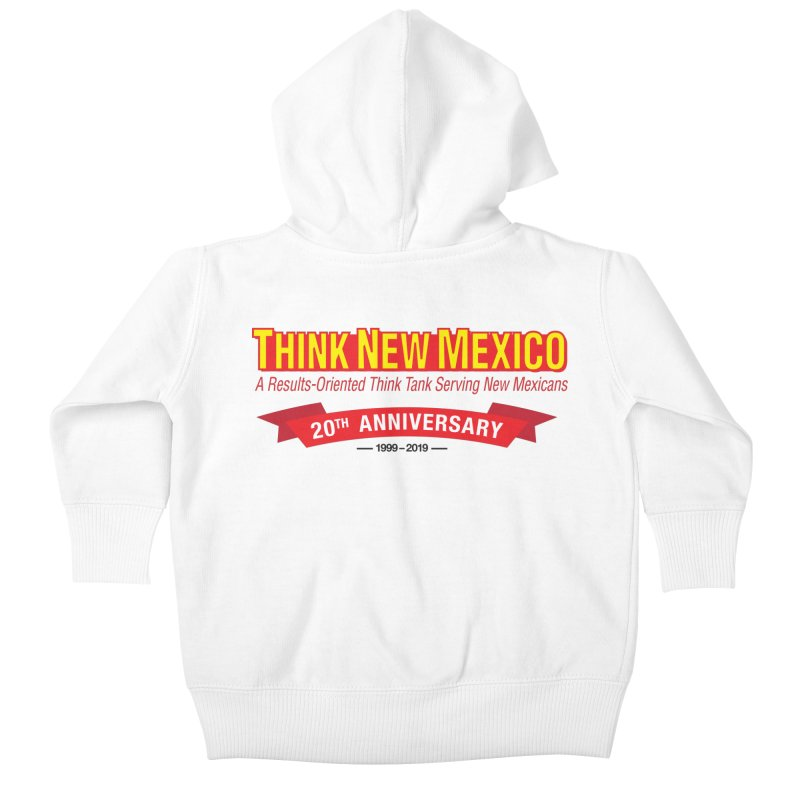 20th Anniversary Red No State Kids Baby Zip-Up Hoody by Think New Mexico's Artist Shop