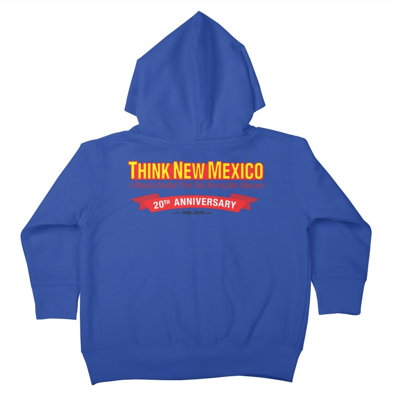 20th Anniversary Red No State Kids Toddler Zip-Up Hoody by Think New Mexico's Artist Shop