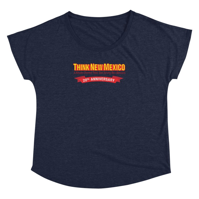 20th Anniversary Red No State Women's Dolman Scoop Neck by Think New Mexico's Artist Shop