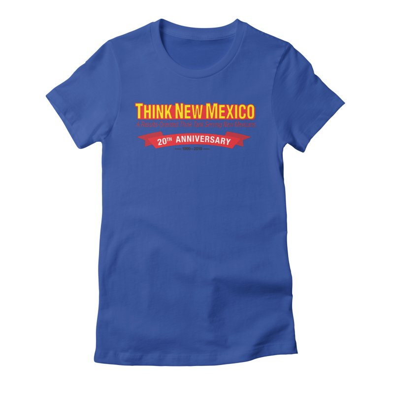 20th Anniversary Red No State Women's Fitted T-Shirt by Think New Mexico's Artist Shop