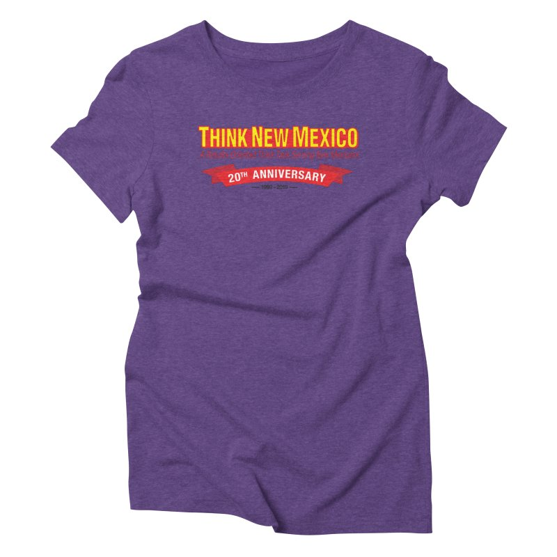 20th Anniversary Red No State Women's Triblend T-Shirt by Think New Mexico's Artist Shop