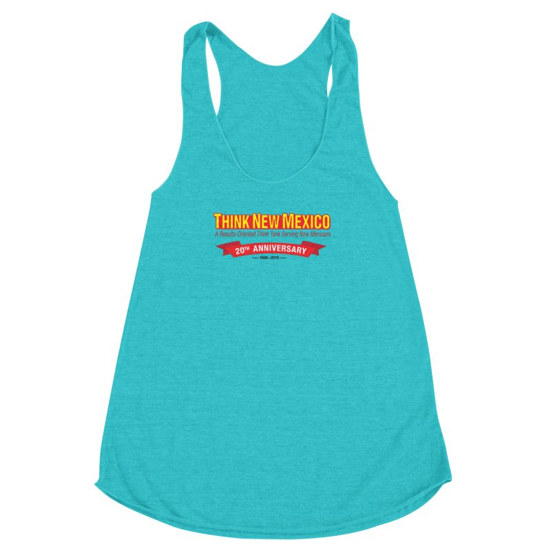 20th Anniversary Red No State Women's Racerback Triblend Tank by Think New Mexico's Artist Shop
