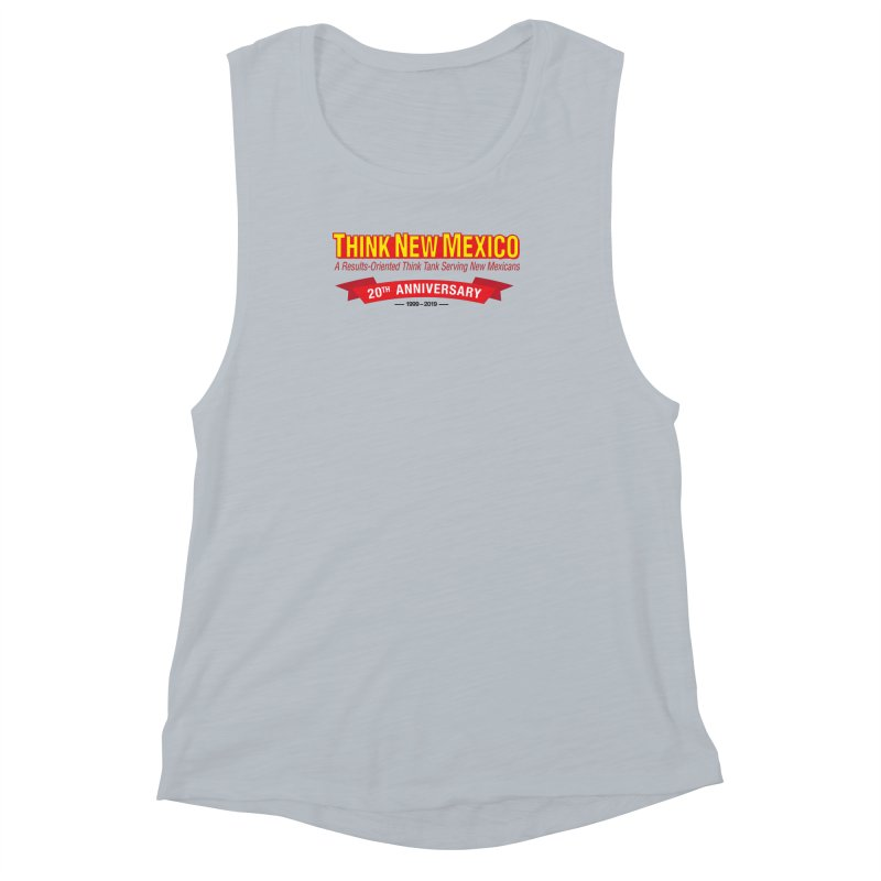 20th Anniversary Red No State Women's Muscle Tank by Think New Mexico's Artist Shop