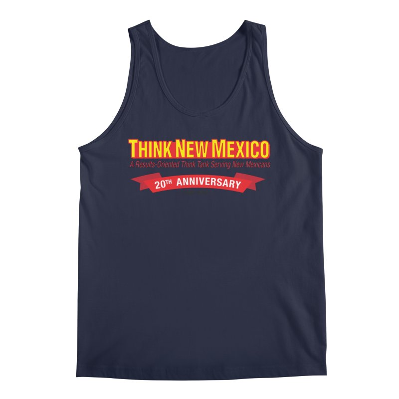 20th Anniversary Red No State Men's Regular Tank by Think New Mexico's Artist Shop