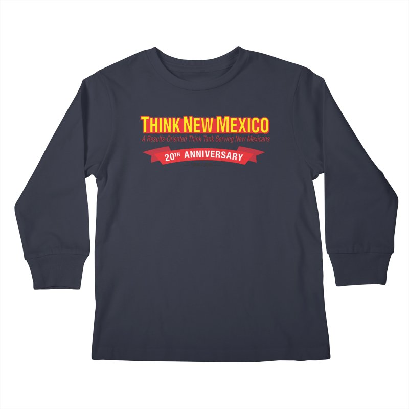 20th Anniversary Red No State Kids Longsleeve T-Shirt by Think New Mexico's Artist Shop
