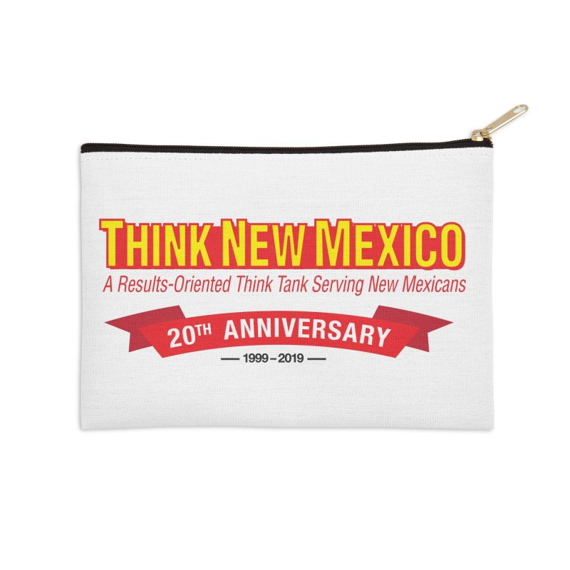 20th Anniversary Red No State Accessories Zip Pouch by Think New Mexico's Artist Shop