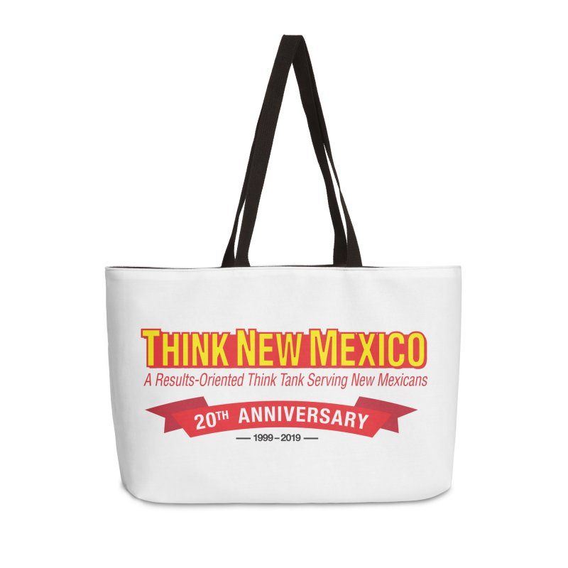 20th Anniversary Red No State Accessories Weekender Bag Bag by Think New Mexico's Artist Shop