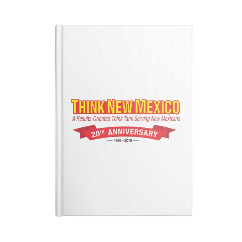 20th Anniversary Red No State Accessories Lined Journal Notebook by Think New Mexico's Artist Shop
