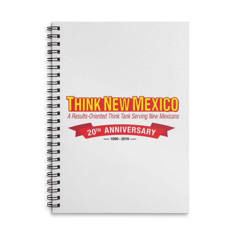 20th Anniversary Red No State Accessories Lined Spiral Notebook by Think New Mexico's Artist Shop