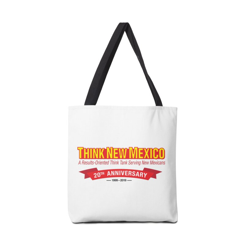 20th Anniversary Red No State Accessories Tote Bag Bag by Think New Mexico's Artist Shop