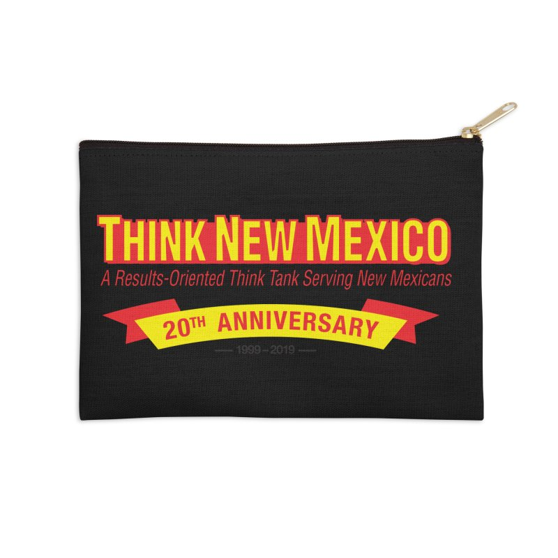 20th Anniversary Yellow No State Accessories Zip Pouch by Think New Mexico's Artist Shop