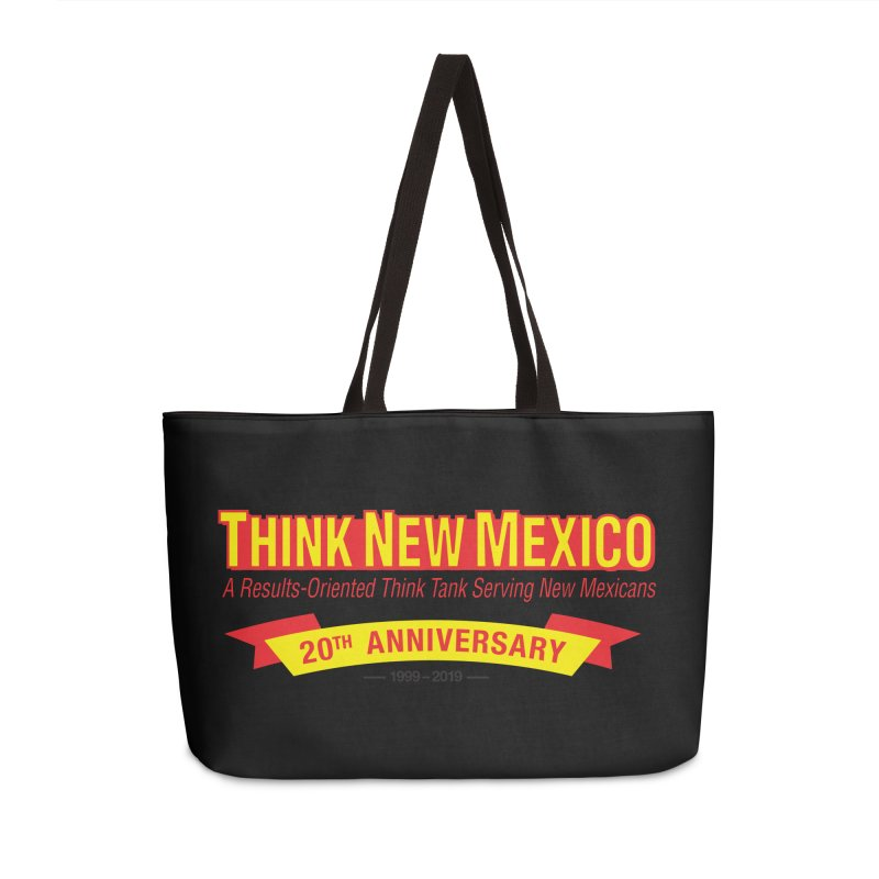 20th Anniversary Yellow No State Accessories Weekender Bag Bag by Think New Mexico's Artist Shop