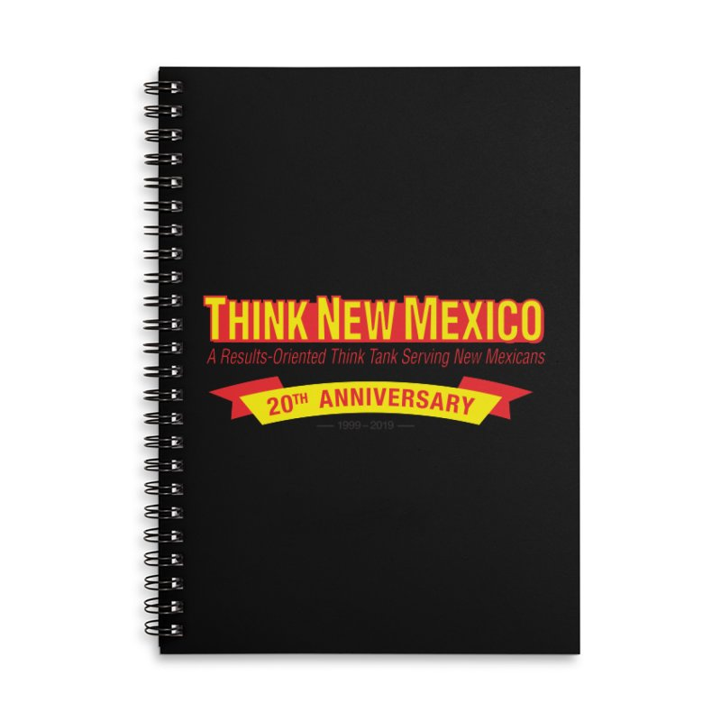 20th Anniversary Yellow No State Accessories Lined Spiral Notebook by Think New Mexico's Artist Shop