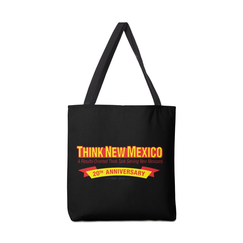 20th Anniversary Yellow No State Accessories Tote Bag Bag by Think New Mexico's Artist Shop
