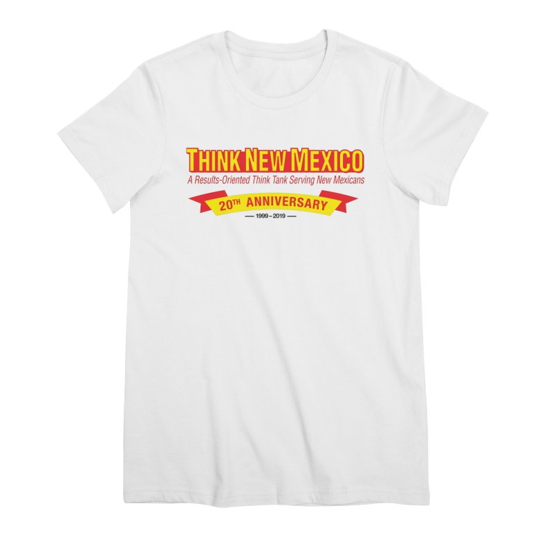 20th Anniversary Yellow No State Women's Premium T-Shirt by Think New Mexico's Artist Shop