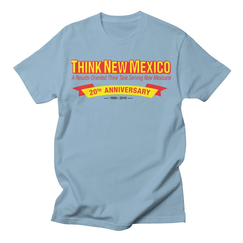 20th Anniversary Yellow No State Men's T-Shirt by Think New Mexico's Artist Shop