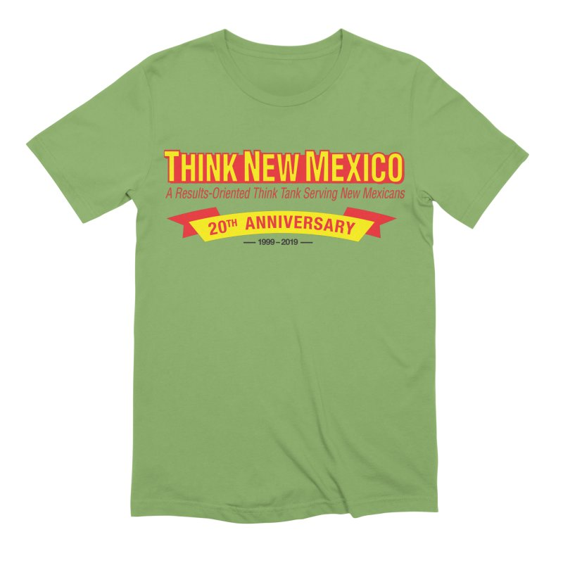20th Anniversary Yellow No State Men's Extra Soft T-Shirt by Think New Mexico's Artist Shop
