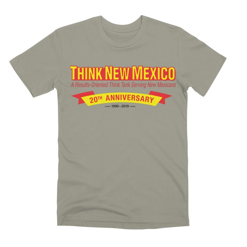 20th Anniversary Yellow No State Men's Premium T-Shirt by Think New Mexico's Artist Shop