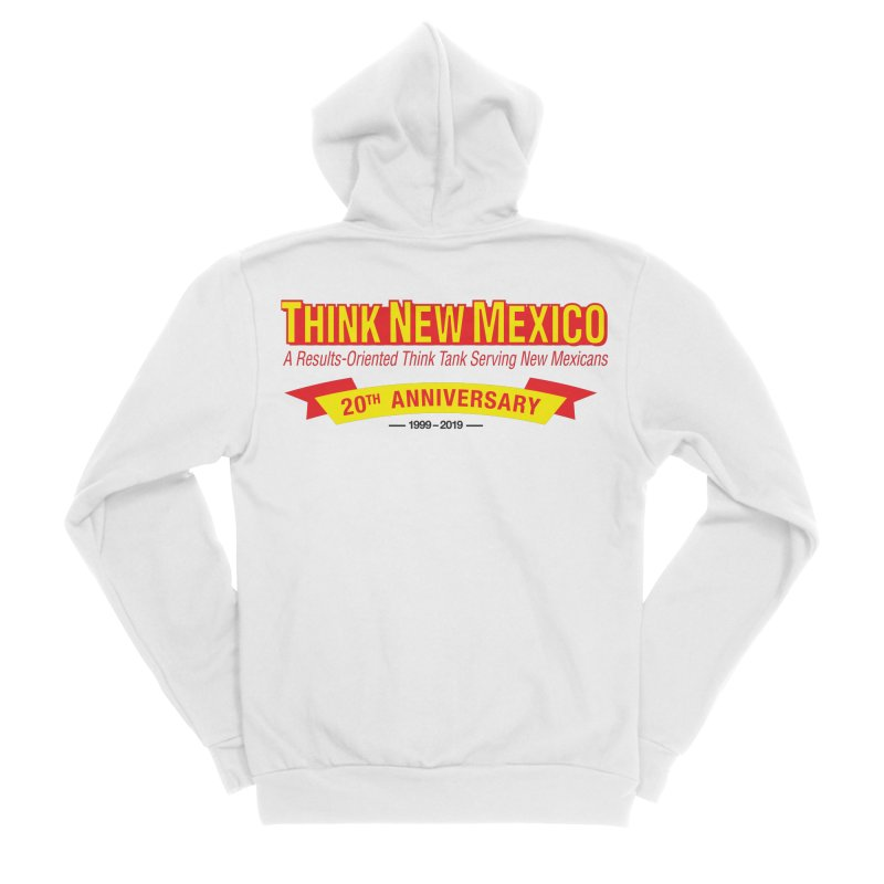 20th Anniversary Yellow No State Men's Sponge Fleece Zip-Up Hoody by Think New Mexico's Artist Shop