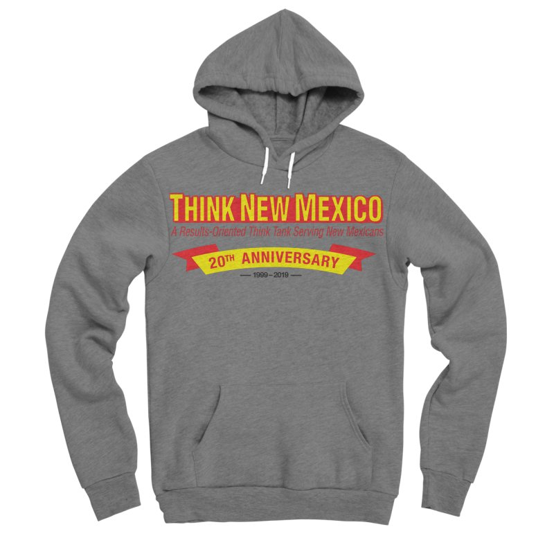 20th Anniversary Yellow No State Women's Sponge Fleece Pullover Hoody by Think New Mexico's Artist Shop