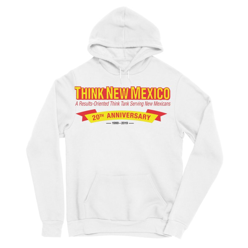 20th Anniversary Yellow No State Men's Sponge Fleece Pullover Hoody by Think New Mexico's Artist Shop