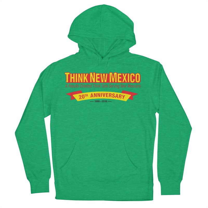 20th Anniversary Yellow No State Men's French Terry Pullover Hoody by Think New Mexico's Artist Shop