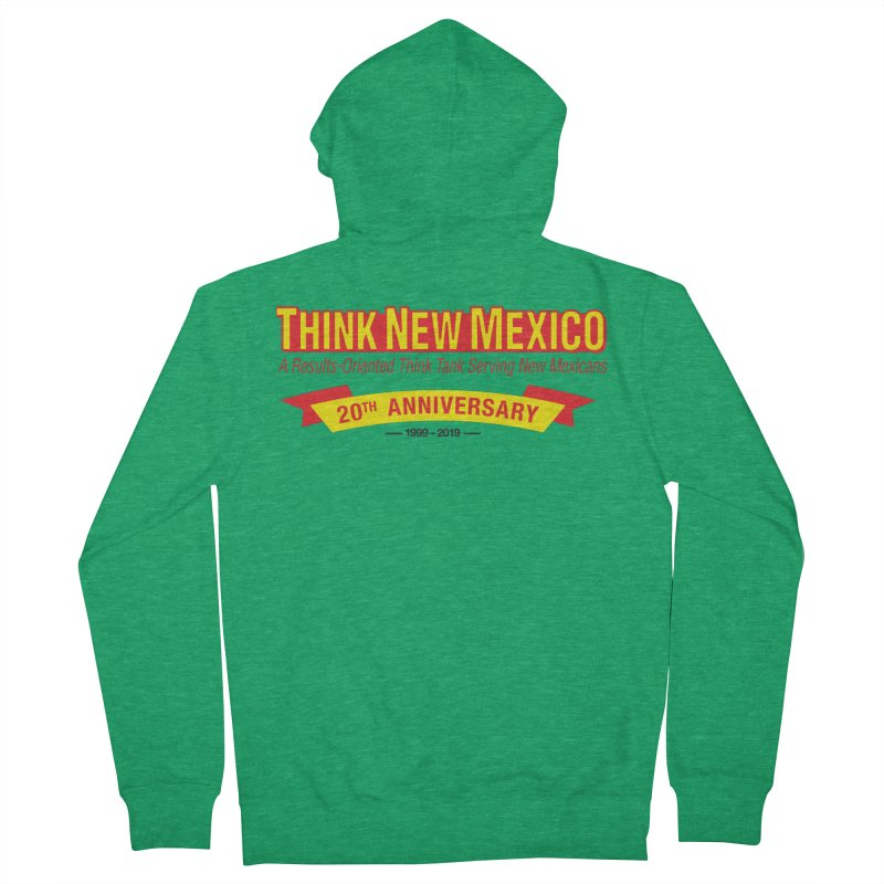 20th Anniversary Yellow No State Men's Zip-Up Hoody by Think New Mexico's Artist Shop